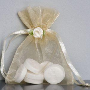 Organza zakjes bruid - huwelijksbedankje