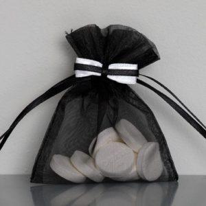 Organza zakje - bruidegom - huwelijksbedankje
