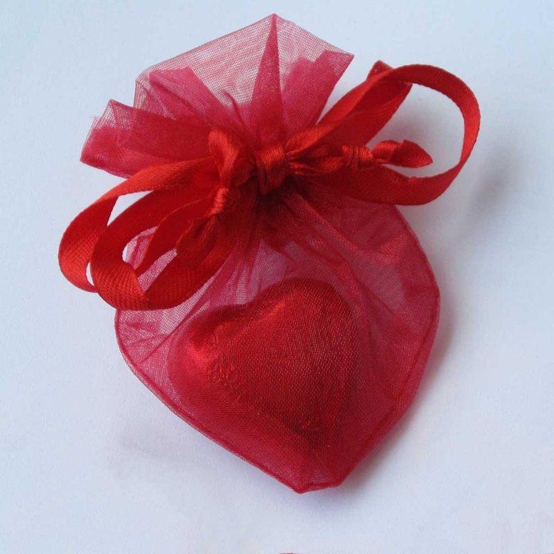 Organza zakjes hartvormig