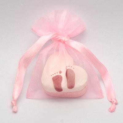 Doopsuiker verpakking babyvoetjes - roze