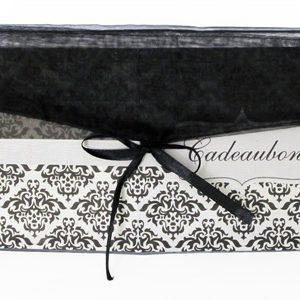 Cadeaubon envelop rechthoekig zwart