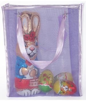 Doorzichtig tasje met hengsels van satijn - Leuk voor Pasen!